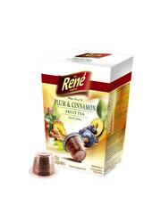 René čaj švestka se skořicí kapsle pro Nespresso 10ks