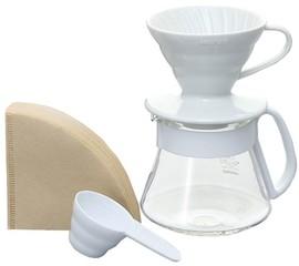 Hario set V60 bílý (driper+zásobník+filtry)