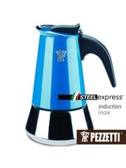 Moka konvice Pezzetti SteelExpress 4 šálky modrá
