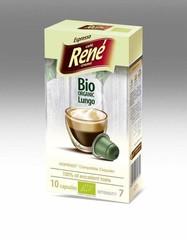 René BIO organic Lungo – kompost.kapsle pro Nespresso, 10 ks