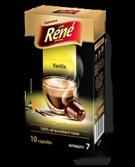 René Espresso káva příchuť Vanilla kapsle pro Nespresso 10 ks